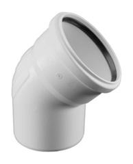Отвод Rehau Raupiano Plus d 110 мм. 45° для канализационных труб