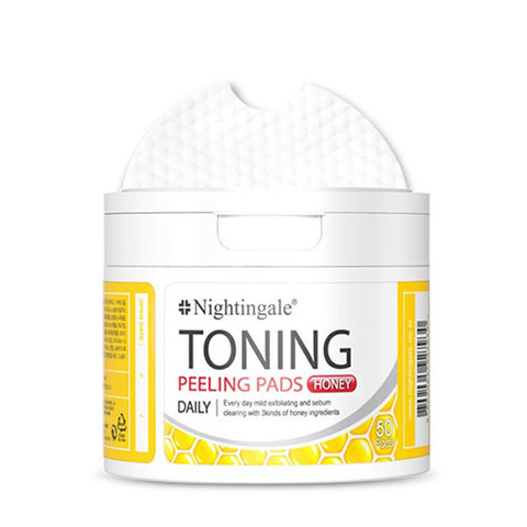 Пилинг салфетки Nightingale Toning Peeling Pads Honey 50шт.