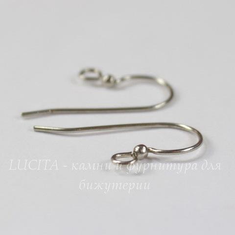 Винтажные швензы крючки с шариком 15 мм (оксид серебра)