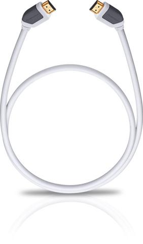Oehlbach Shape Magic-HS HDMI, white 2.2m, HDMI кабель (#92573)