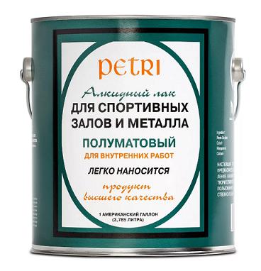 Лак для спортзалов и металла Petri Spar Gym / Петри полуматовый