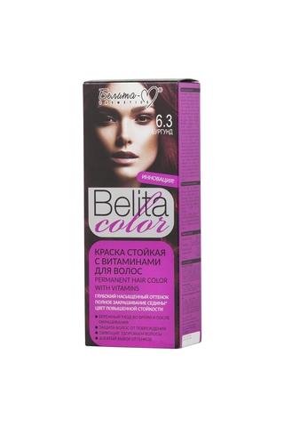 Белита-М Belita Color Стойкая краска с витаминами для волос тон №6.3 Бургунд