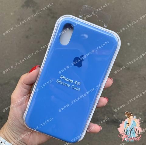 Чехол iPhone XR Silicone Case /royal blue/ ярко-синий 1:1