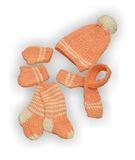 Вязаный комплект - Персик. Одежда для кукол, пупсов и мягких игрушек.