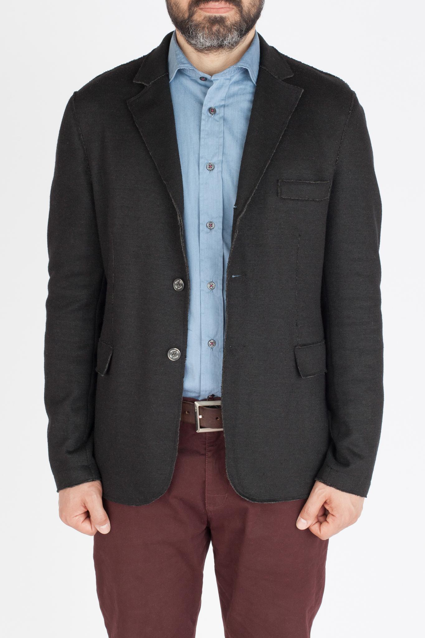 Чёрный трикотажный пиджак