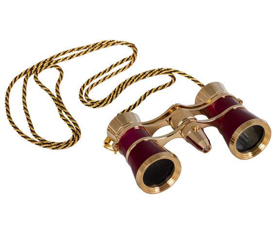 Окуляры бинокля Levenhuk Broadway 325F с подсветкой и цепочкой, красный