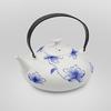 """Фарфоровый чайник """"Голубые орхидеи"""" 550 мл"""