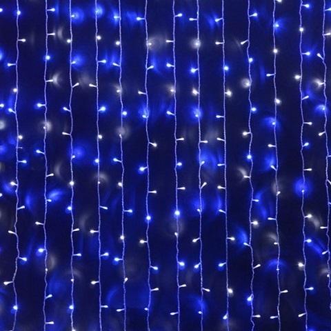 Светодиодная гирлянда Водопад. 2*3м Бело-синяя