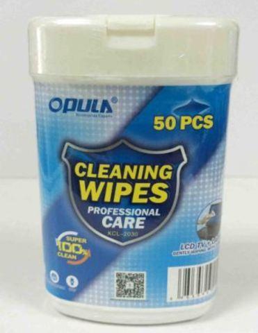 OPULA KCL-2030 чистящие салфетки для ноутбуков туба 50шт