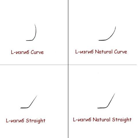 Ресницы NEICHA L-изгиб Natural Curve  16 линий MIX