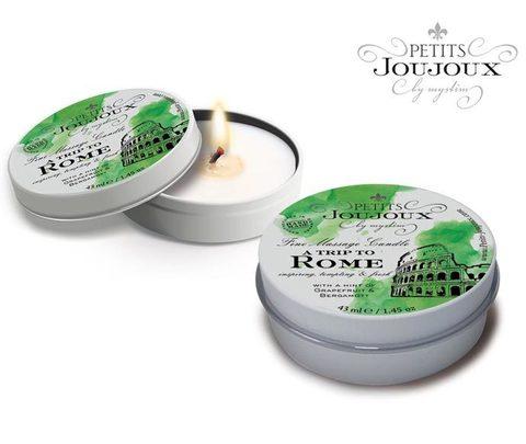 Massage candle - PETITS JOUJOUX ROME грейпфрут и бергамот 33 гр.