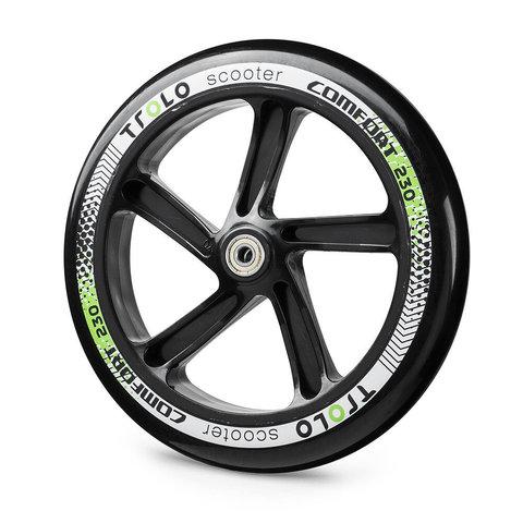 купить колесо с подшипником Trolo Comfort 230 мм черно-зеленое