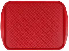 Поднос столовый из полистирола 420х300 мм красный