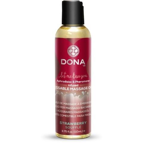 Массажное масло Dona со вкусом клубничного суфле