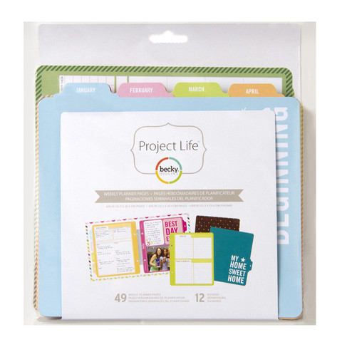 """Planner Pages """"Weekly planner"""" для Project Life"""
