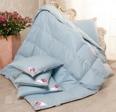 Одеяло Камелия. Пух категории Люкс.Стандартное. цвет голубой