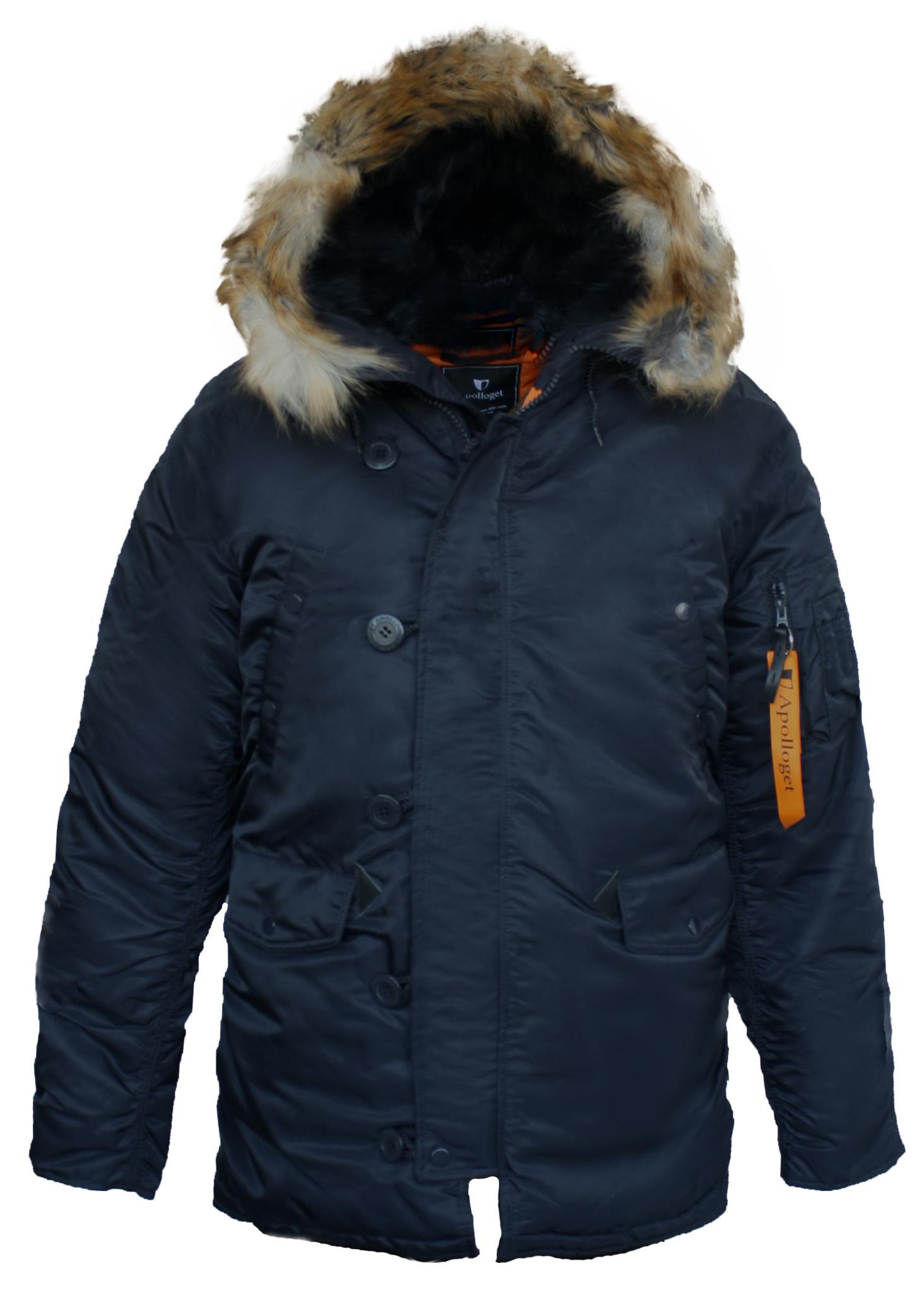 Куртка Аляска  N-3B  Husky Apolloget 2017 (т. синий - ink/orange)