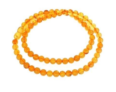 бусы янтарные шары 6 мм