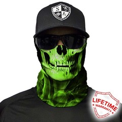 Бандана с черепом SA Skull Tech-Green Crow