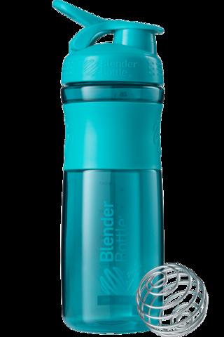 BlenderBottle SportMixer, Универсальная Спортивная бутылка-шейкер с венчиком.  Teal-морской-голубой 828 мл cat