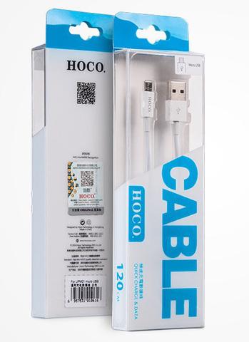 Кабель microUSB HOCO UPM01, white