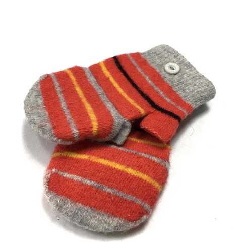 Варежки-перчатки в яркую полоску на 3 года