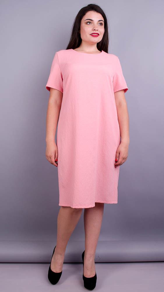 Вірта літо. Ніжна сукня плюс сайз. Персик.