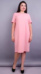 Вирта креп. Стильное платье плюс сайз. Персик.