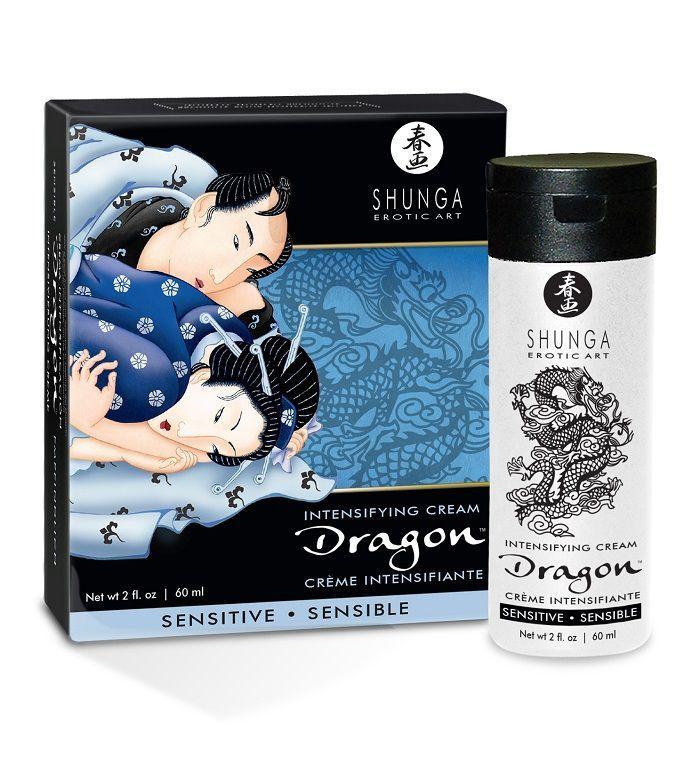 Возбуждающие: Интимный мужской крем SHUNGA DRAGON SENSITIVE - 60 мл.