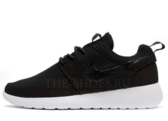 Кроссовки Женские Nike Roshe Run Material Black Red White