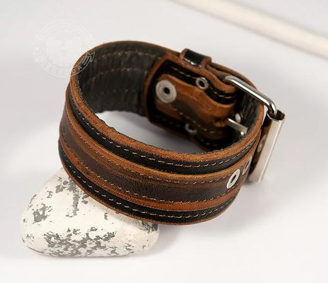 BL445-2 Оригинальный мужской браслет из натуральной кожи ручной работы