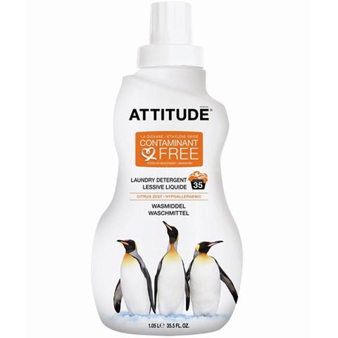 Жидкое средство для стирки гипоаллергенное Цитрус Зест Attitude