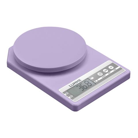 Весы кухонные сенсор LUMME LU-1343 лиловый аметист