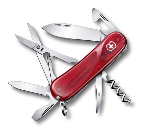 Нож Victorinox Evolution 14.600, 85 мм, 14 функций, полупрозрачный красный