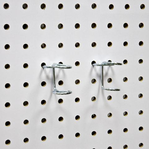 Кольцевые крючки (2 шт) на перфопанель из ХДФ . PH819