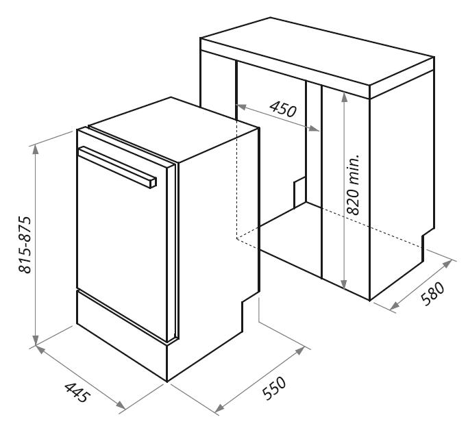 Встраиваемая посудомоечная машина Maunfeld МLP-08B