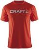 Футболка Craft Active Run Logo мужская красная