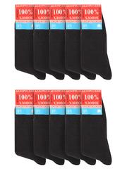 MC-22 носки мужские, черные (10шт)