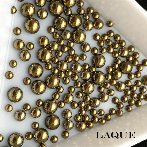 MIX жемчуг для дизайна - color GOLD (не теряют цвет)
