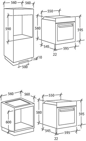Духовой шкаф Candy FCP825XLE0/E с функцией WI-FI