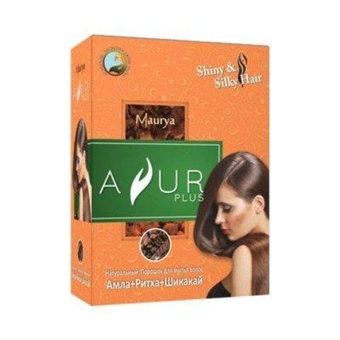 Амла Ритха Шикакай, травяной шампунь для мытья волос, 50 г (Индия)
