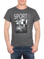 0714-6 футболка мужская, темно-серая
