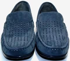 Стильные мужские мокасины IKOC 1352-2 Blue.