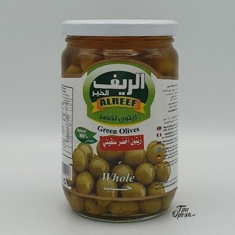 Оливки зеленые с косточкой ALREEF, 630 гр