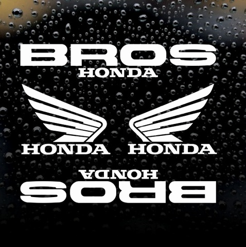 Набор виниловых наклеек на мотоцикл Honda BROS, 4шт.