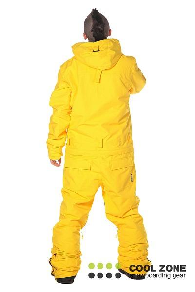 Сноубордический комбинезон мужской Cool Zone желтый 2710
