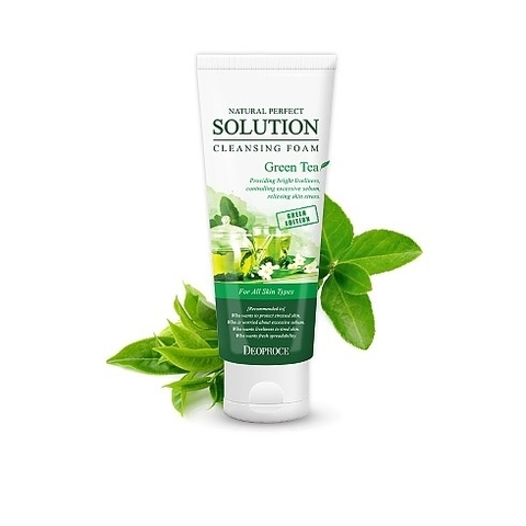 NATURAL PERFECT SOLUTION CLEANSING FOAM GREENTEA