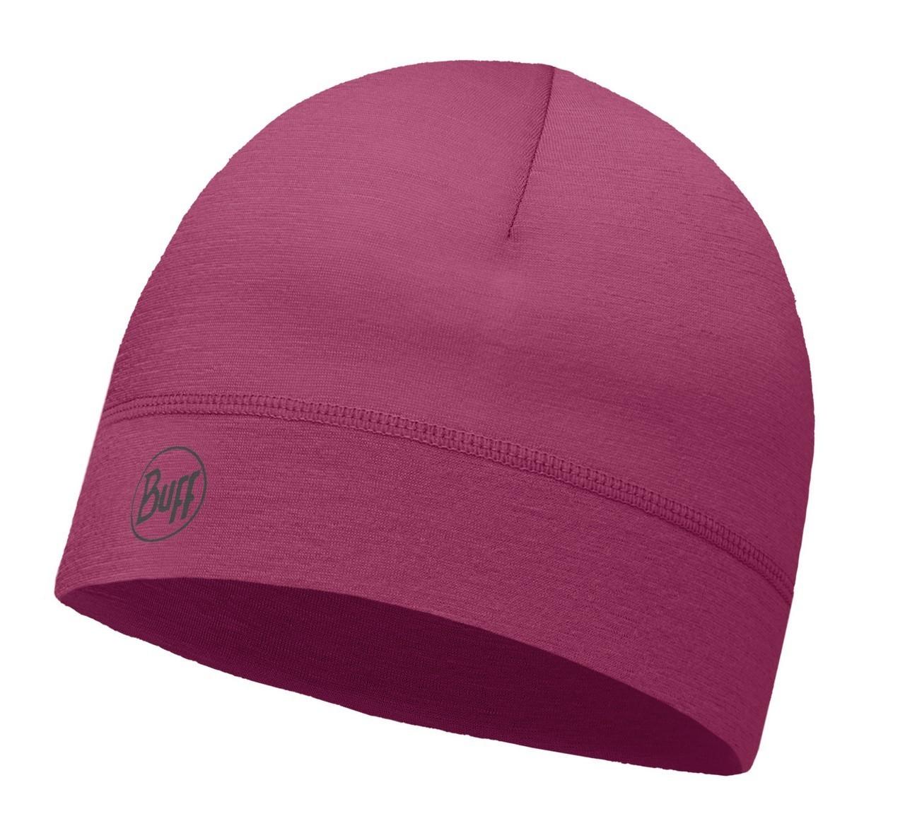 Тонкая спортивная шапка Buff Solid Amaranth Purple