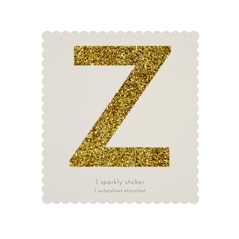 Стикер Z, мерцающее золото