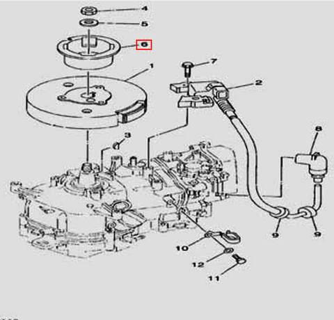 Шкив для лодочного мотора F5 Sea-PRO(11-6)